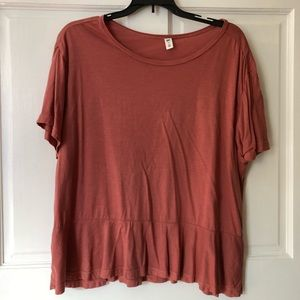 NWOT BP peplum t shirt size medium